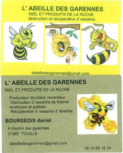Carte Abeille des Garennes