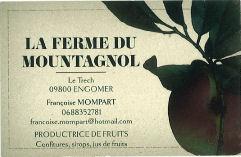 Carte Ferme du Mountagnol