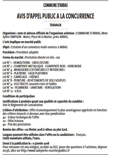 Marché Public Multi-services
