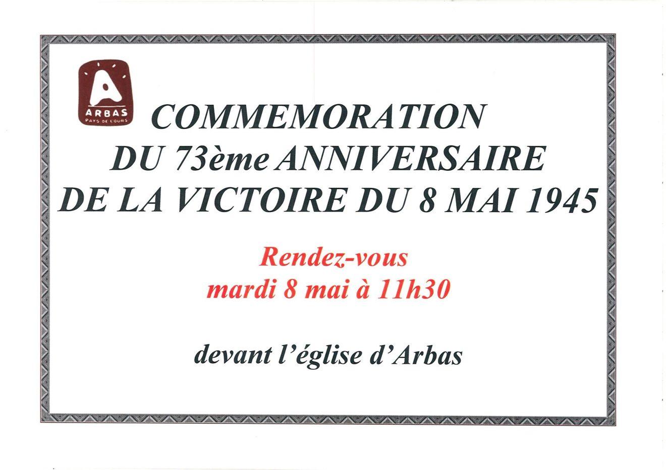 commemoration 8 mai 2018