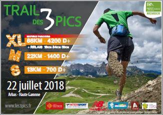 Affiche Trail des 3 Pics 2018