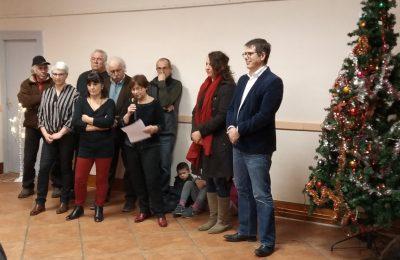 Le conseil municipal lors des vœux du maire