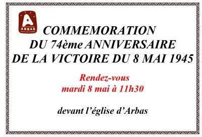 Affiche commémoration 8 mai