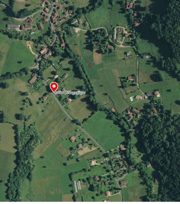 Radar pédagogique, Route de Barat