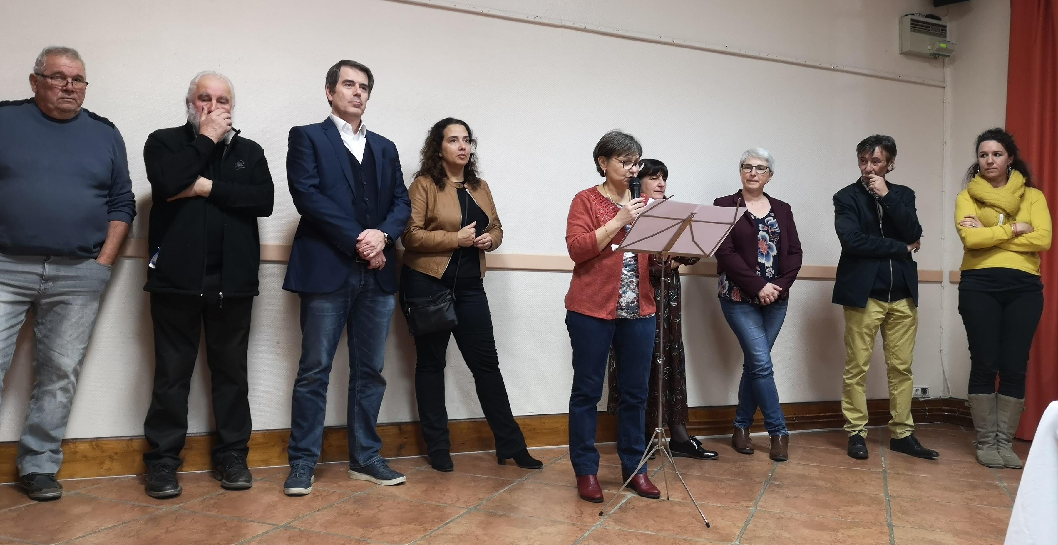 L'équipe municipale lors des voeux du maire 2020