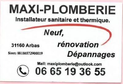Carte de visite Maxi-Plomberie