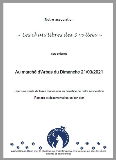 chat libres mars 2021